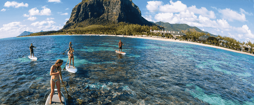 Paddle Boarding in Mauritius